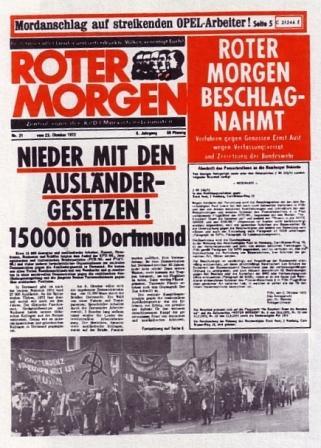 RM (Oktober 1972): Nierder mit den Ausländergesetzen!