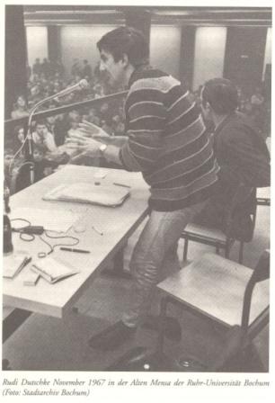 Rudi Dutschke im November 1967 in der Alten Mensa der Ruhr_Universität Bochum