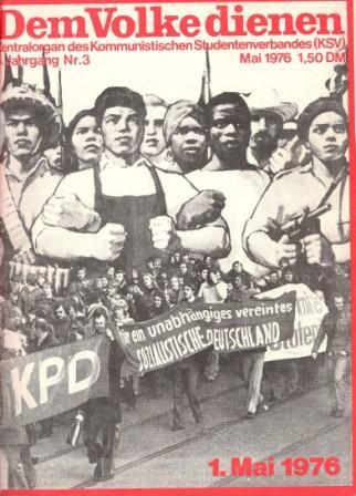 Dem Volke dienen _ Zentralorgan des Kommunistischen Studentenverbandes (Titelbild, Mai 1976)