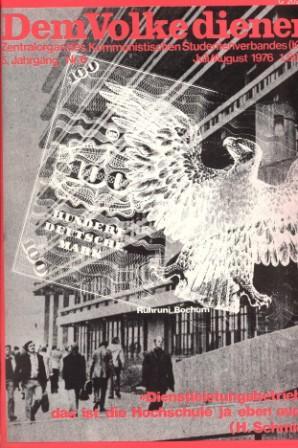 Dem Volke dienen _ Zentralorgan des Kommunistischen Studentenverbandes (Titelbild, Juni 1976)
