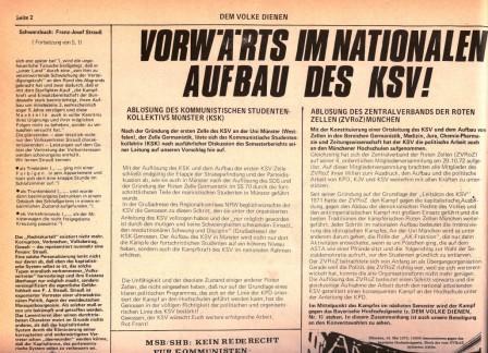 DVD: Vorwärts im nationalen Aufbau des KSV!