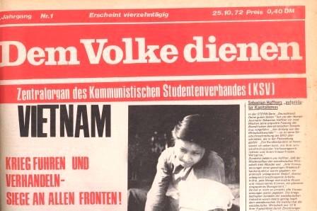 Dem Volke dienen, Jahrgang 1, 25.10.1972