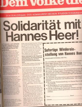 DVD_Titelblatt: Solidarität mit Hannes Heer!