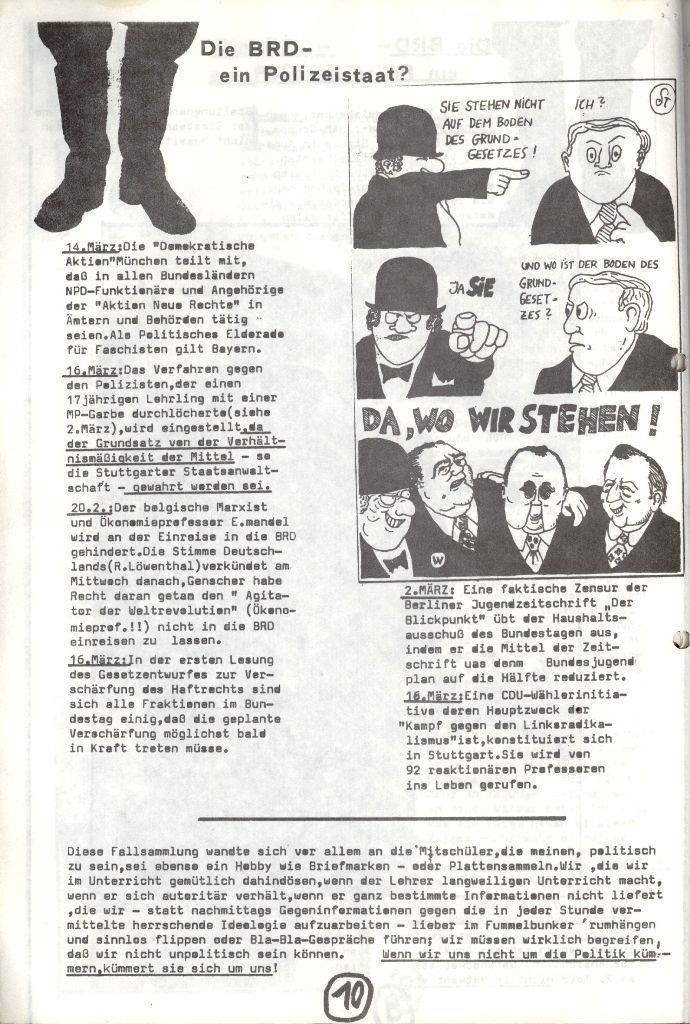 Herner Schülerpresse, Mai 1972, Seite 10