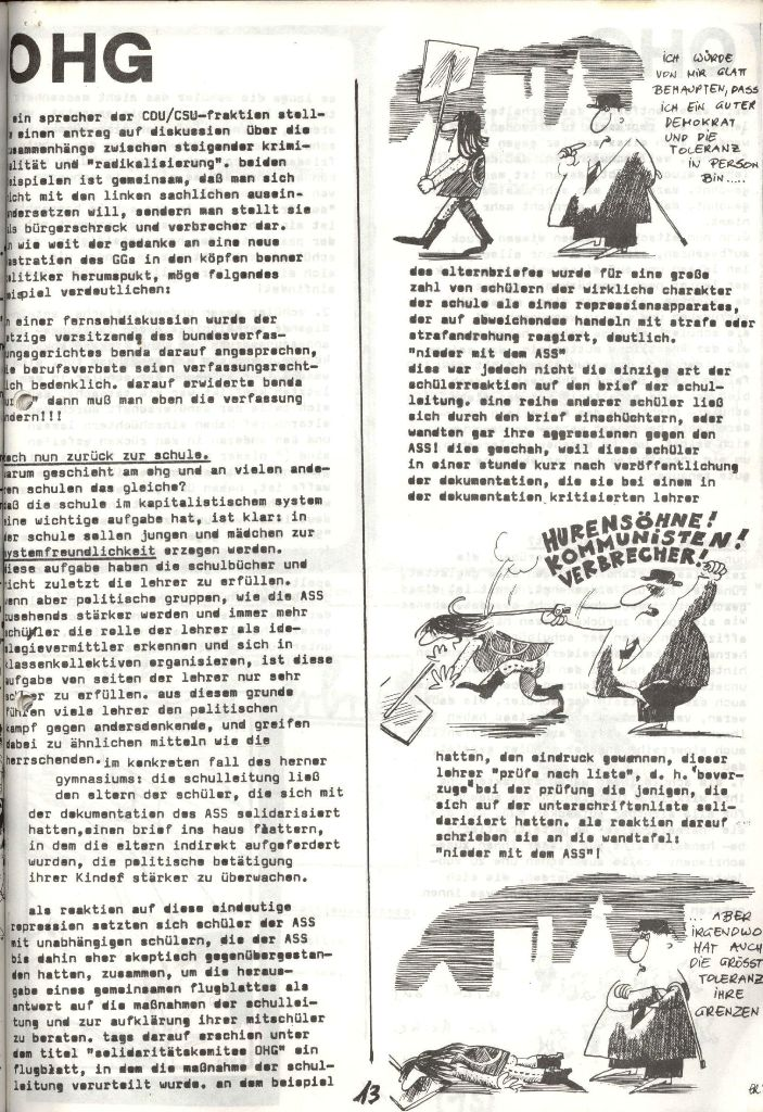 Herner Schülerpresse, Mai 1972, Seite 13