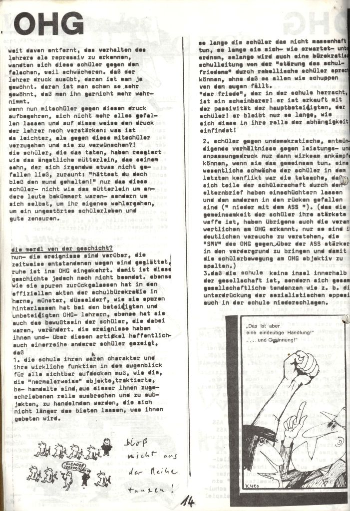 Herner Schülerpresse, Mai 1972, Seite 14