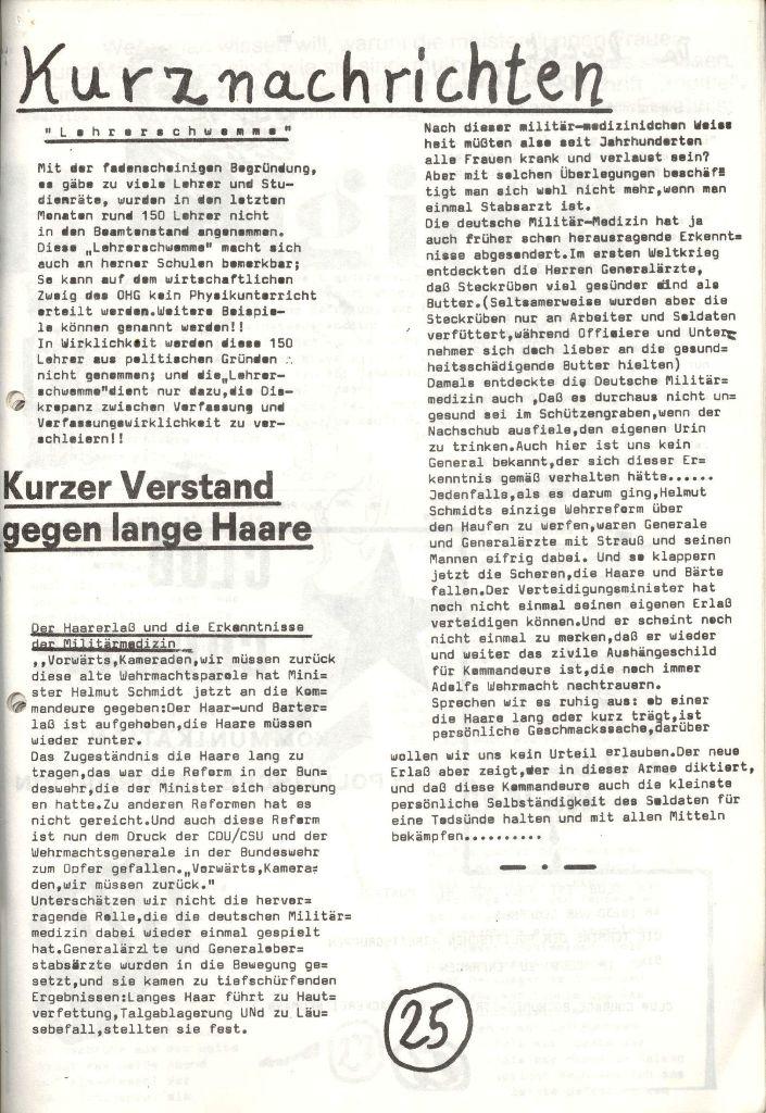 Herner Schülerpresse, Mai 1972, Seite 25