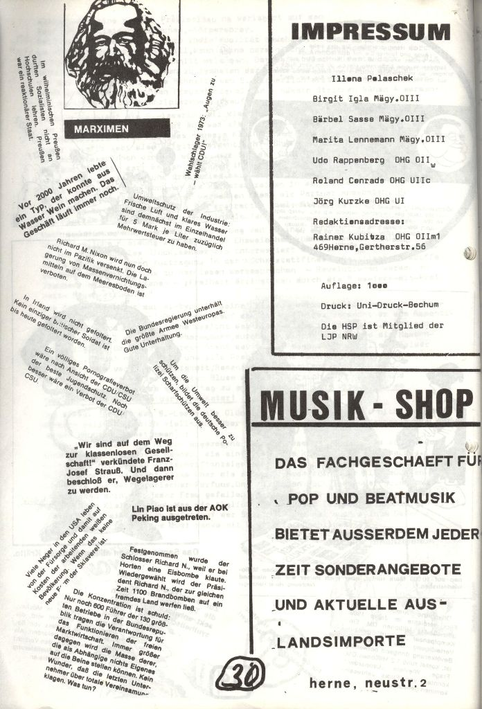 Herner Schülerpresse, Mai 1972, Seite 30