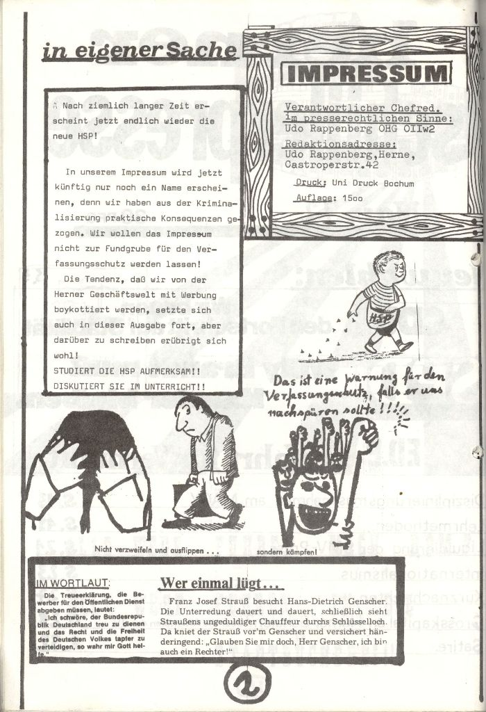 Herner Schülerpresse, Nov. 1972, Seite 2