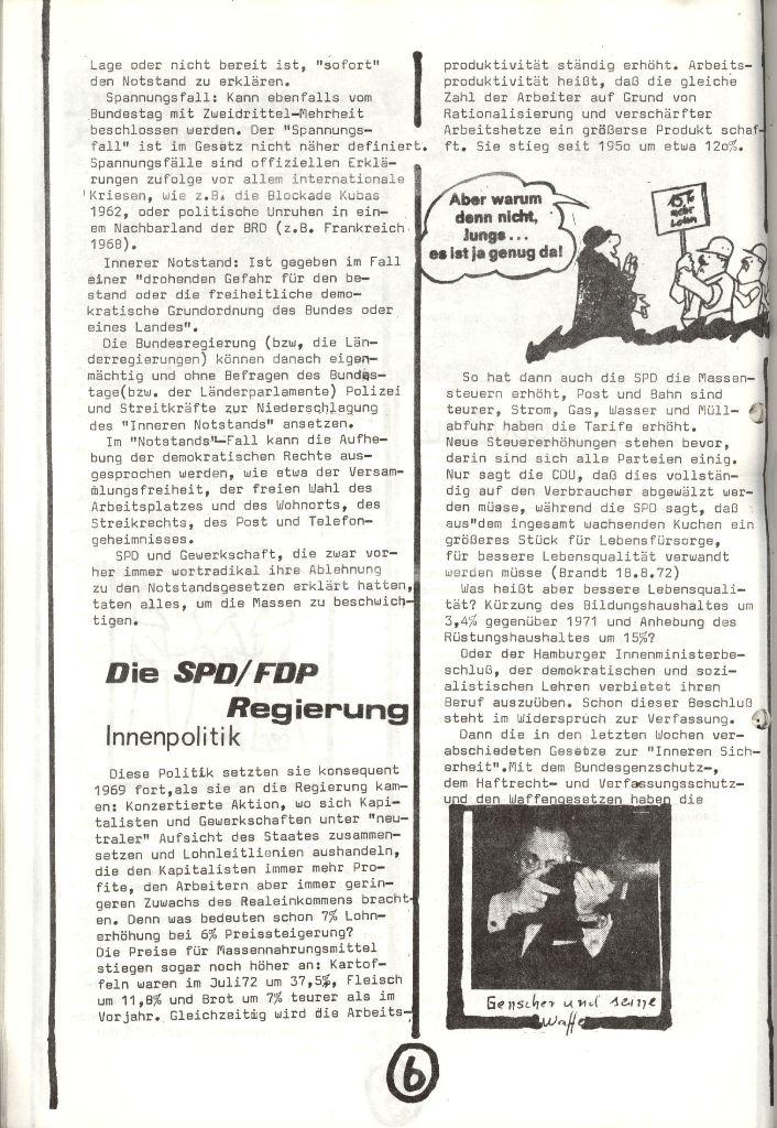 Herner Schülerpresse, Nov. 1972, Seite 6