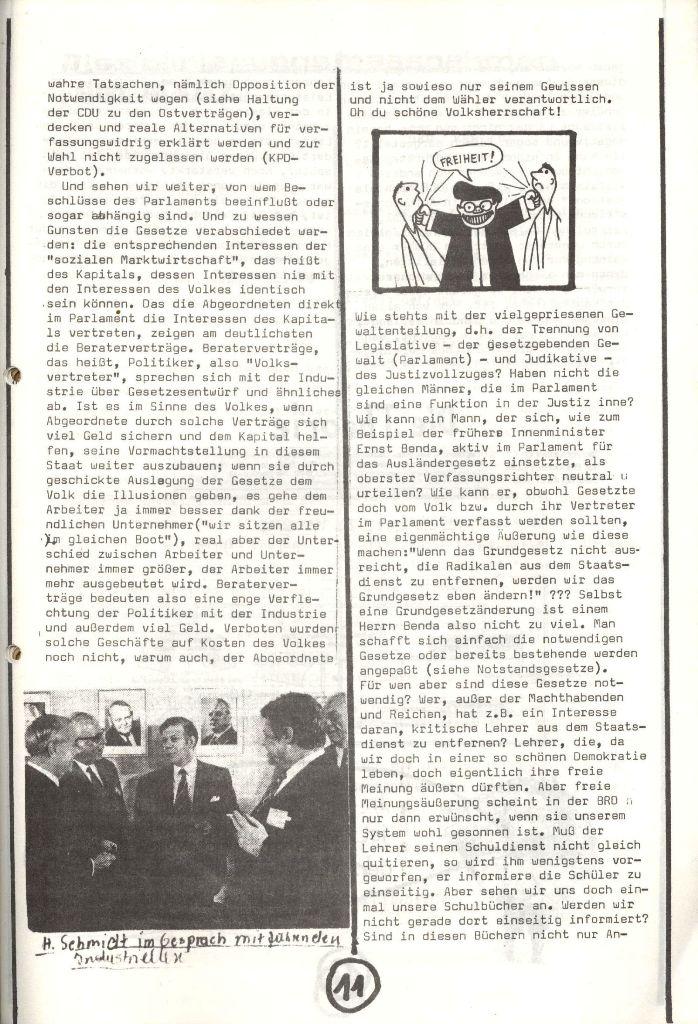 Herner Schülerpresse, Nov. 1972, Seite 11