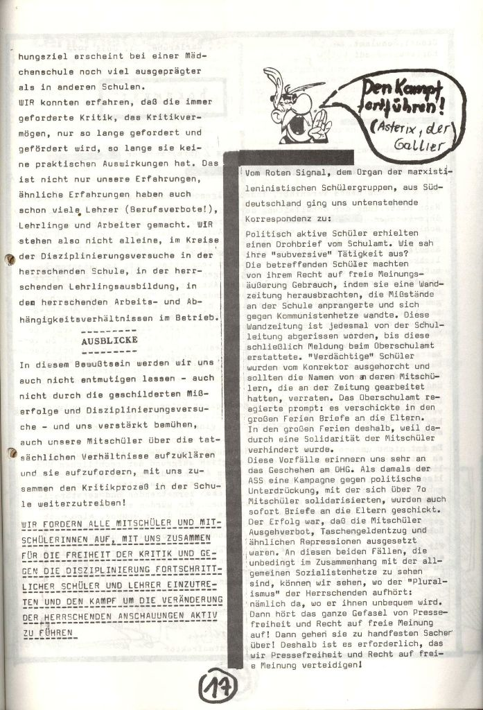Herner Schülerpresse, Nov. 1972, Seite 17