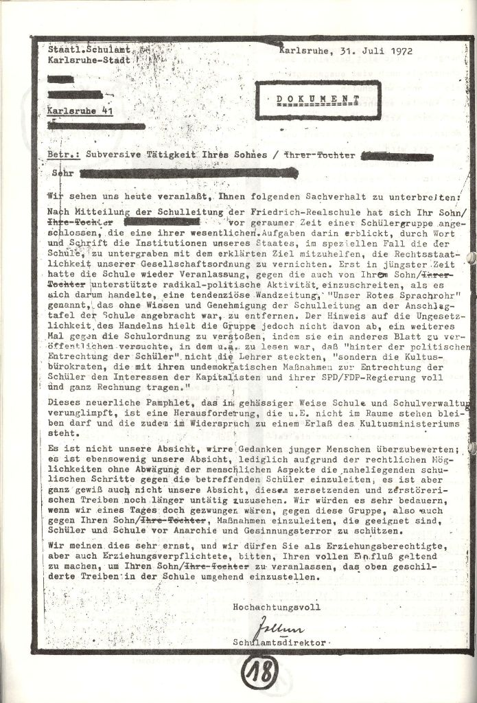 Herner Schülerpresse, Nov. 1972, Seite 18