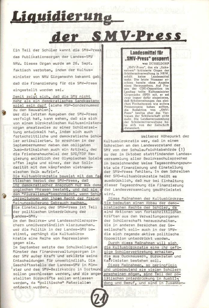 Herner Schülerpresse, Nov. 1972, Seite 21