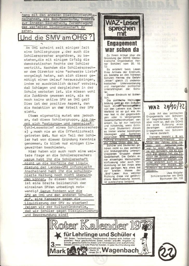 Herner Schülerpresse, Nov. 1972, Seite 22