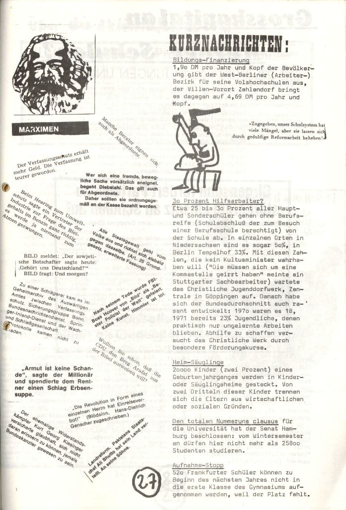 Herner Schülerpresse, Nov. 1972, Seite 27