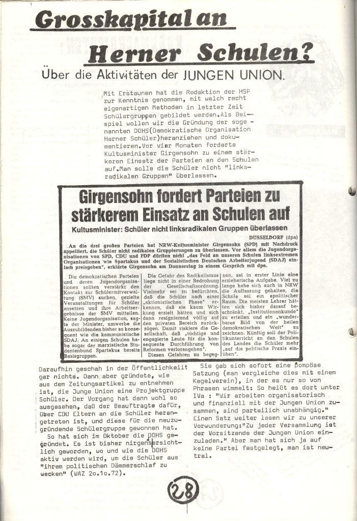 Herner Schülerpresse, Nov. 1972, Seite 28