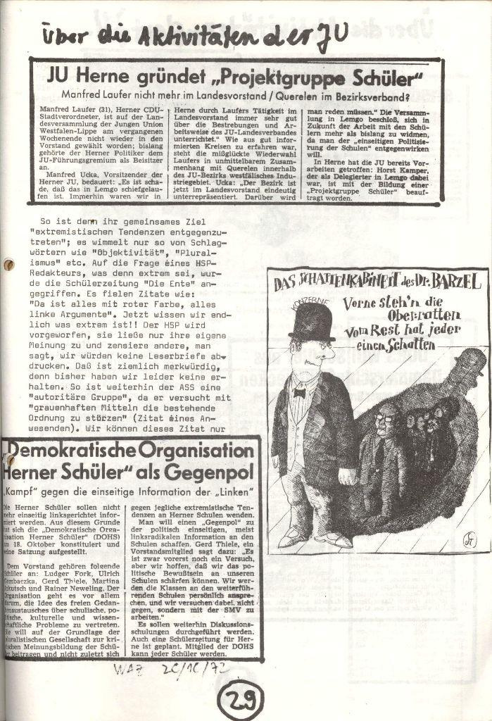 Herner Schülerpresse, Nov. 1972, Seite 29