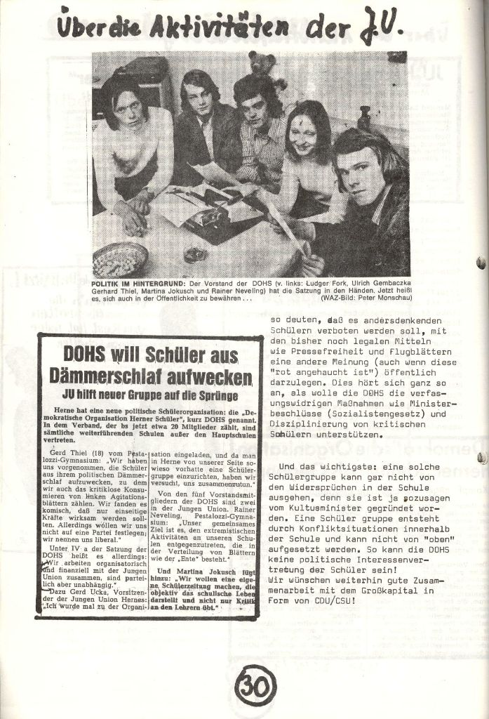 Herner Schülerpresse, Nov. 1972, Seite 30