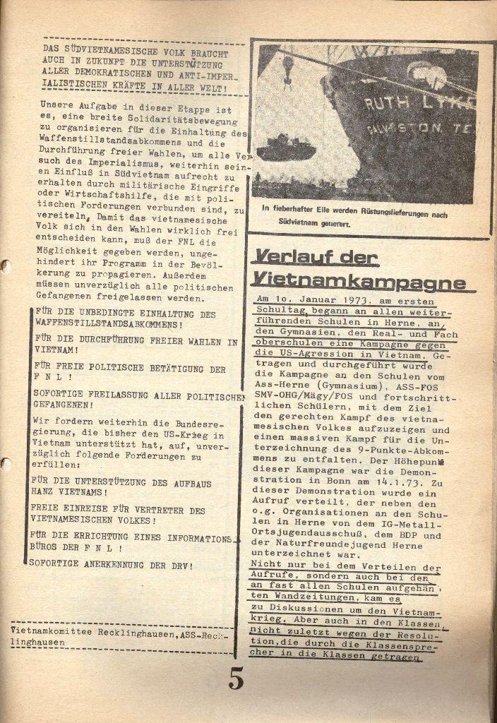 Herner Schülerpresse, 1/73, Seite 5
