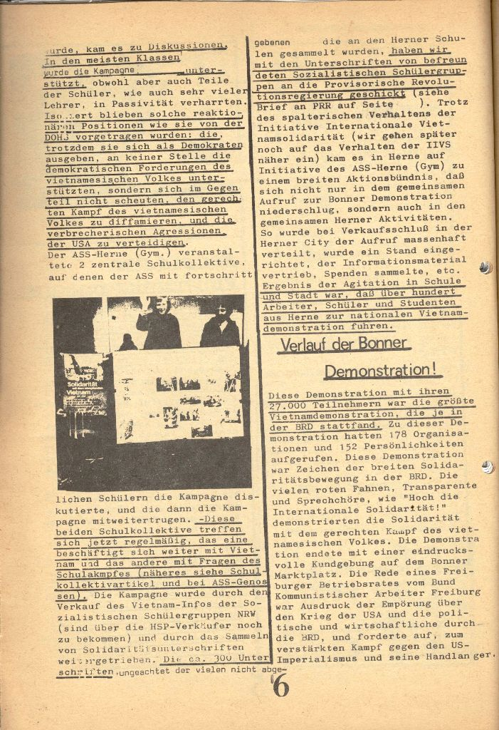 Herner Schülerpresse, 1/73, Seite 6