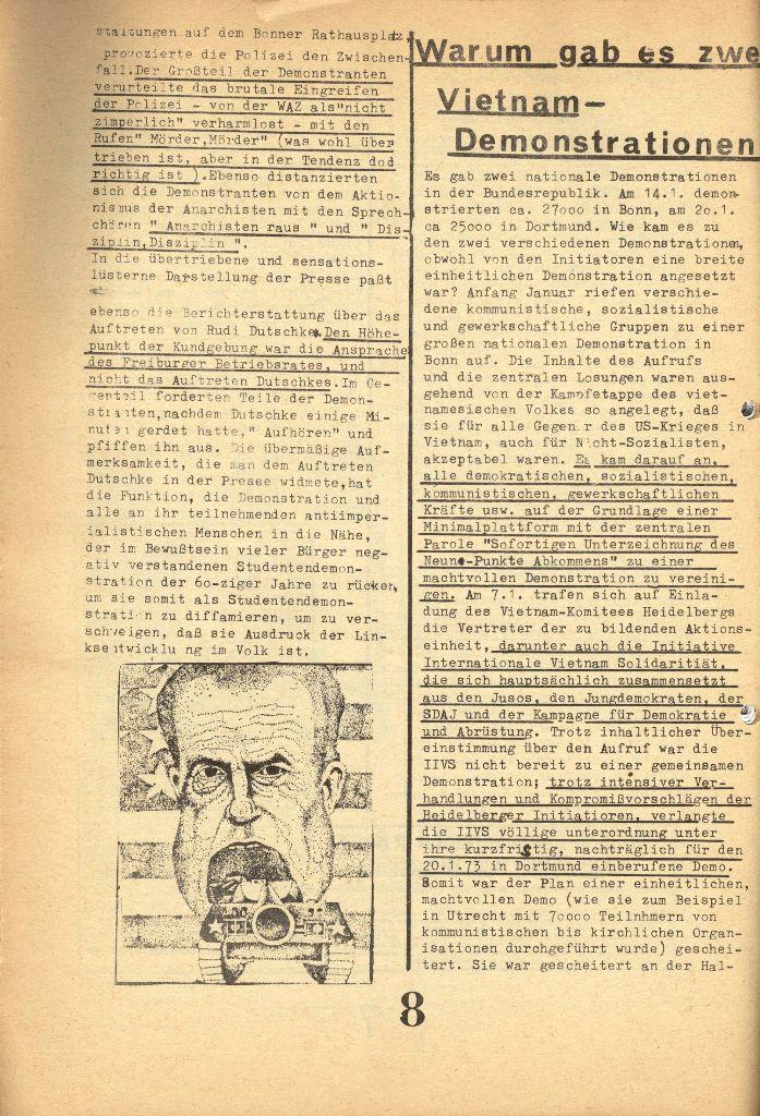 Herner Schülerpresse, 1/73, Seite 8
