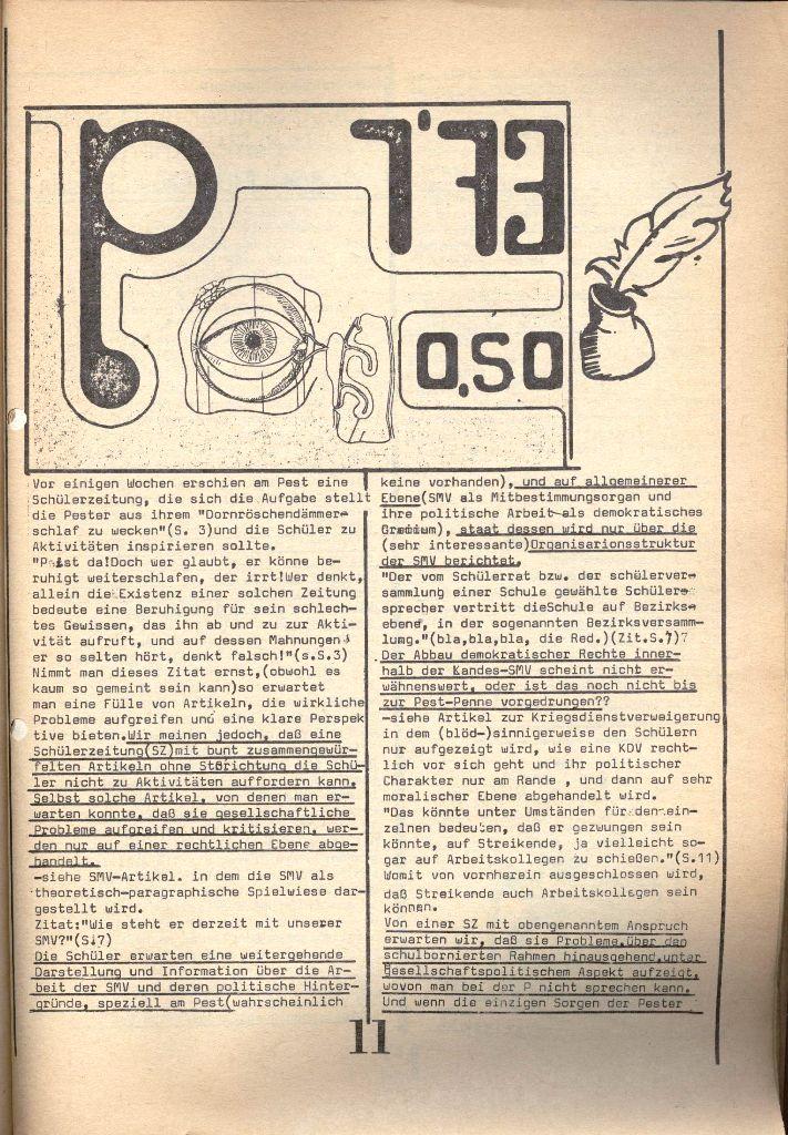 Herner Schülerpresse, 1/73, Seite 11