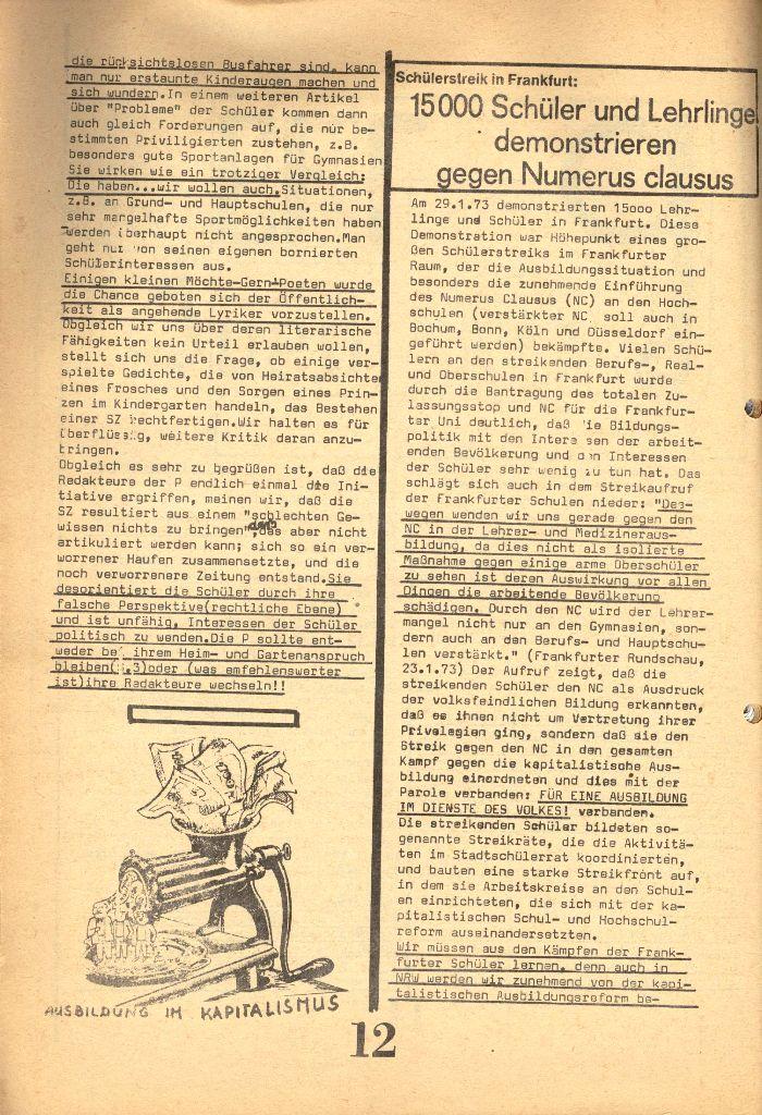 Herner Schülerpresse, 1/73, Seite 12