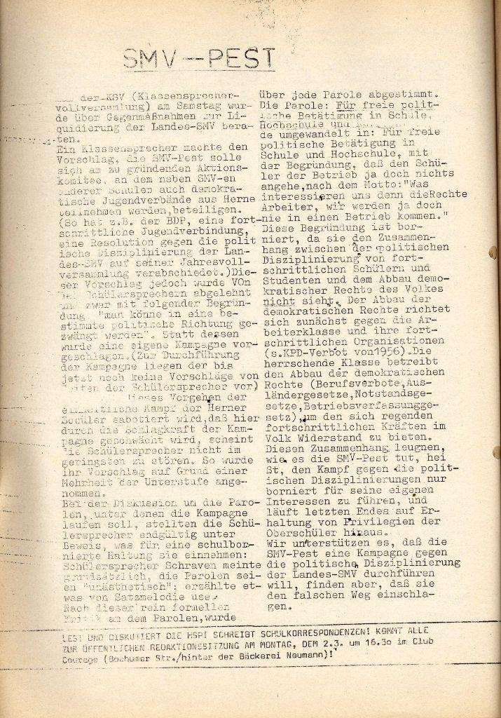 Herner Schülerpresse, Sonderblatt, Seite 2