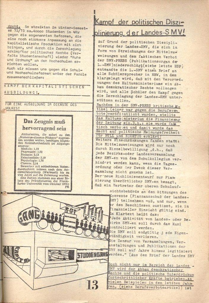 Herner Schülerpresse, 1/73, Seite 13