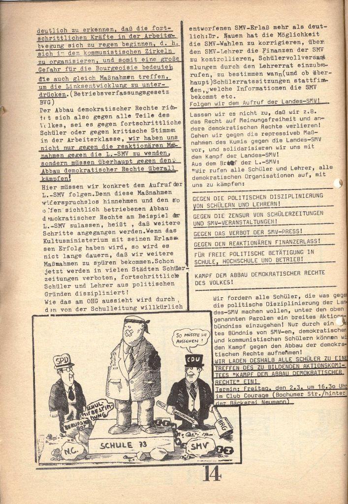 Herner Schülerpresse, 1/73, Seite 14