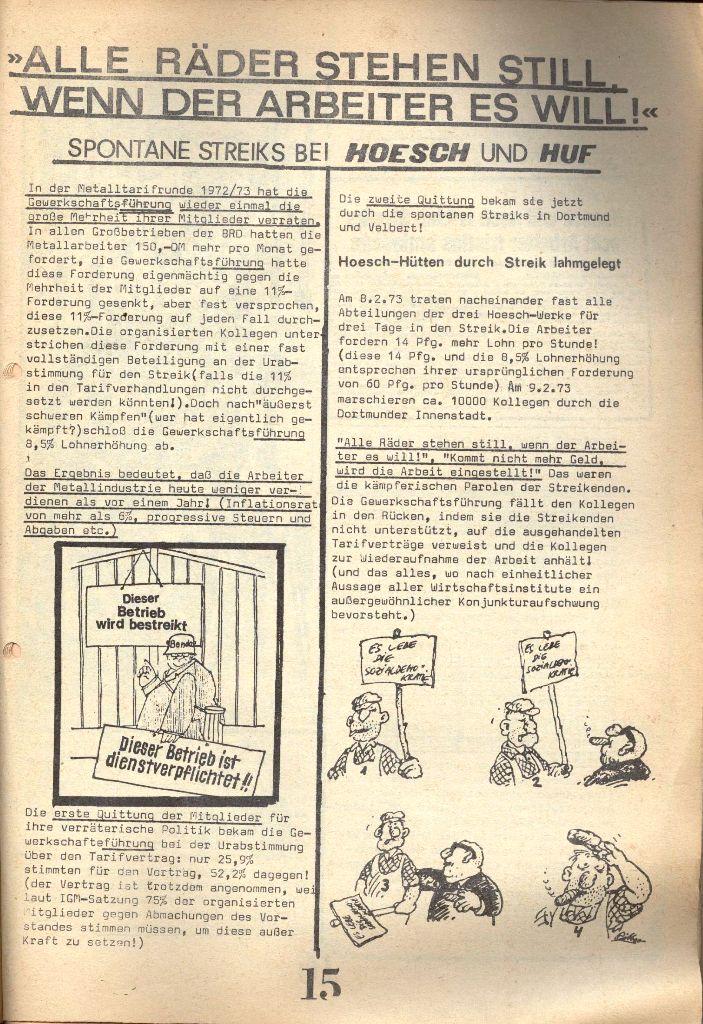 Herner Schülerpresse, 1/73, Seite 15
