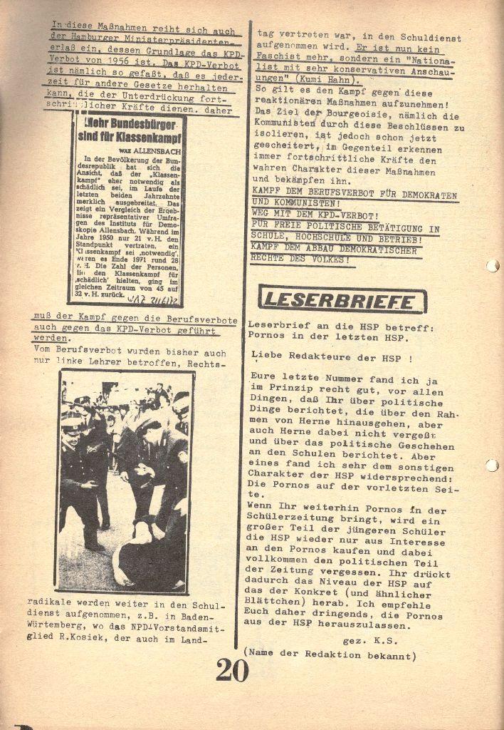 Herner Schülerpresse, 1/73, Seite 20