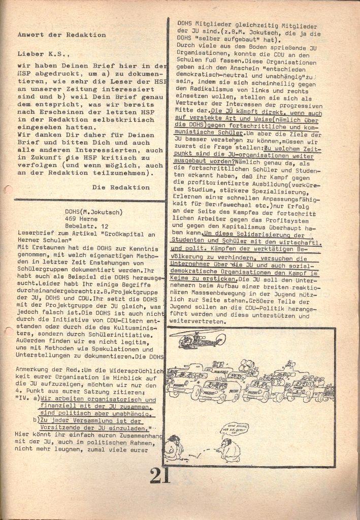 Herner Schülerpresse, 1/73, Seite 21