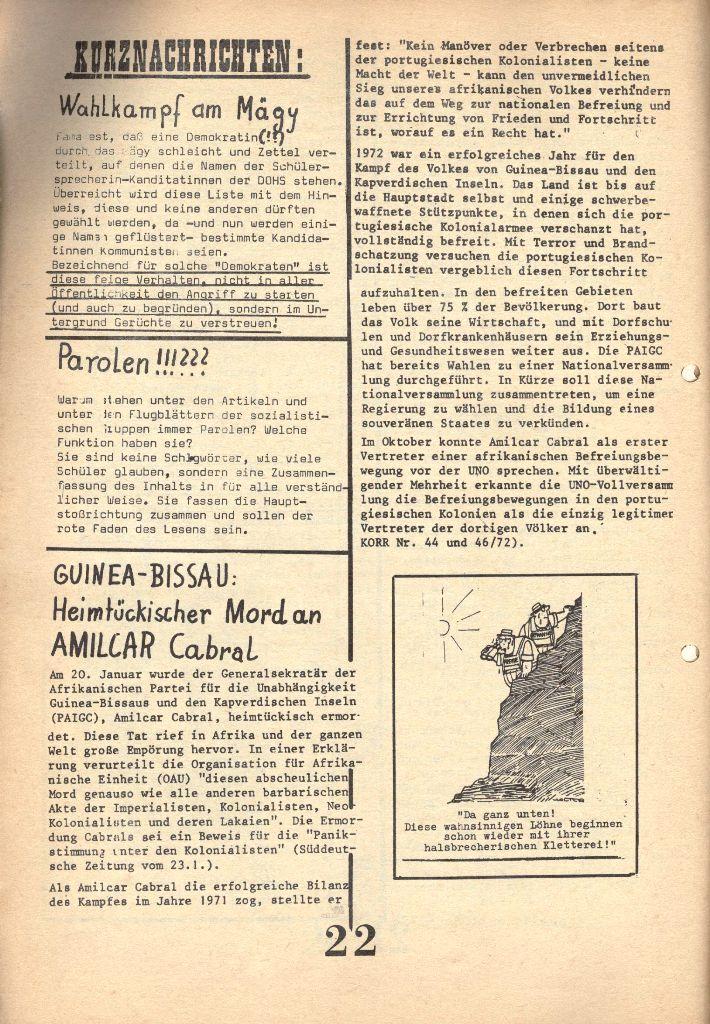 Herner Schülerpresse, 1/73, Seite 22