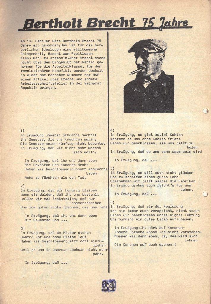 Herner Schülerpresse, 1/73, Seite 24
