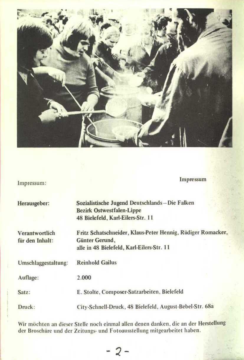 Rheinstal_Dokumentation der SJD_Die Falken, Bezirk Ostwestfalen_Lippe [1973], Seite 2