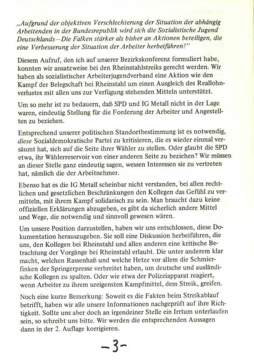 Rheinstal_Dokumentation der SJD_Die Falken, Bezirk Ostwestfalen_Lippe [1973], Seite 3