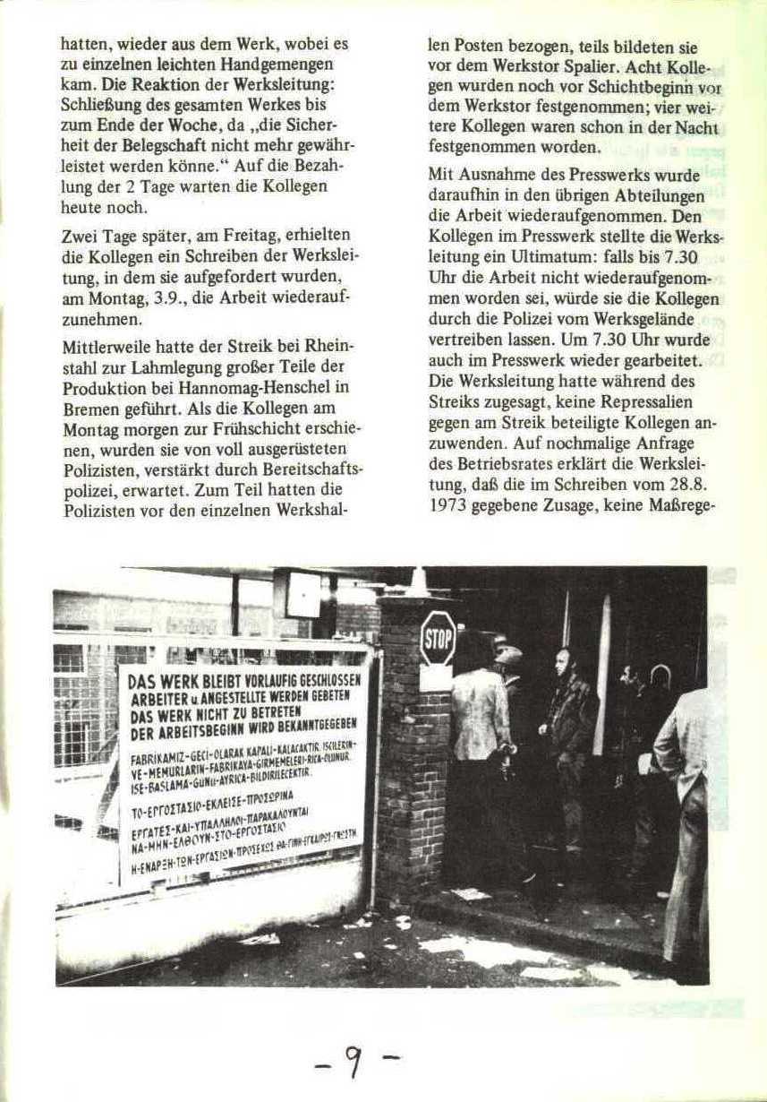Rheinstal_Dokumentation der SJD_Die Falken, Bezirk Ostwestfalen_Lippe [1973], Seite 9