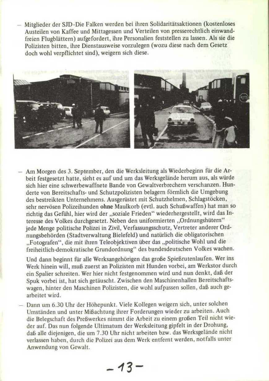 Rheinstal_Dokumentation der SJD_Die Falken, Bezirk Ostwestfalen_Lippe [1973], Seite 13
