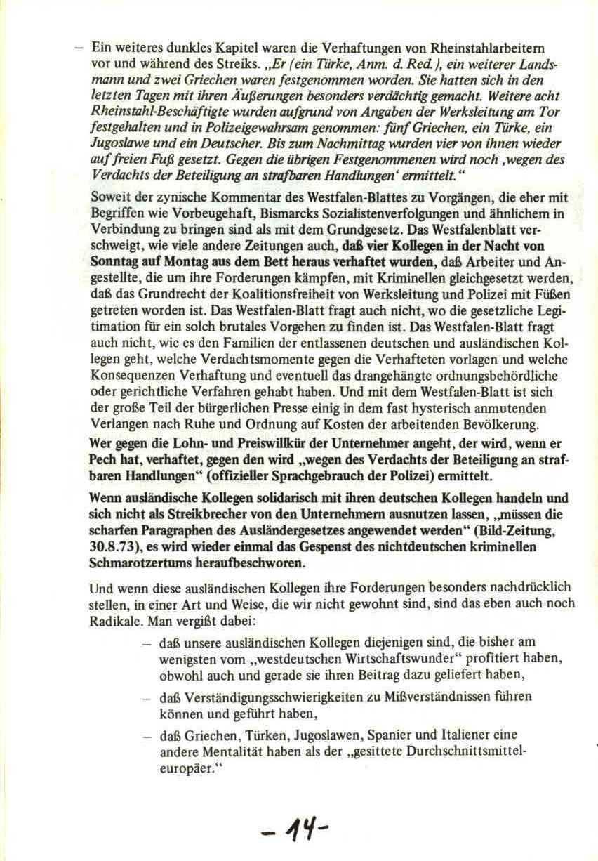 Rheinstal_Dokumentation der SJD_Die Falken, Bezirk Ostwestfalen_Lippe [1973], Seite 14