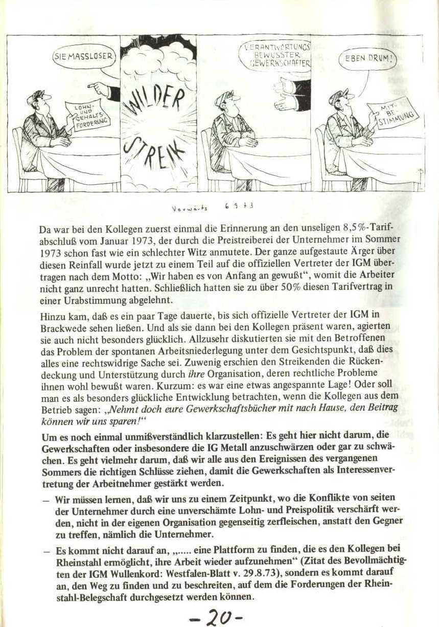 Rheinstal_Dokumentation der SJD_Die Falken, Bezirk Ostwestfalen_Lippe [1973], Seite 20