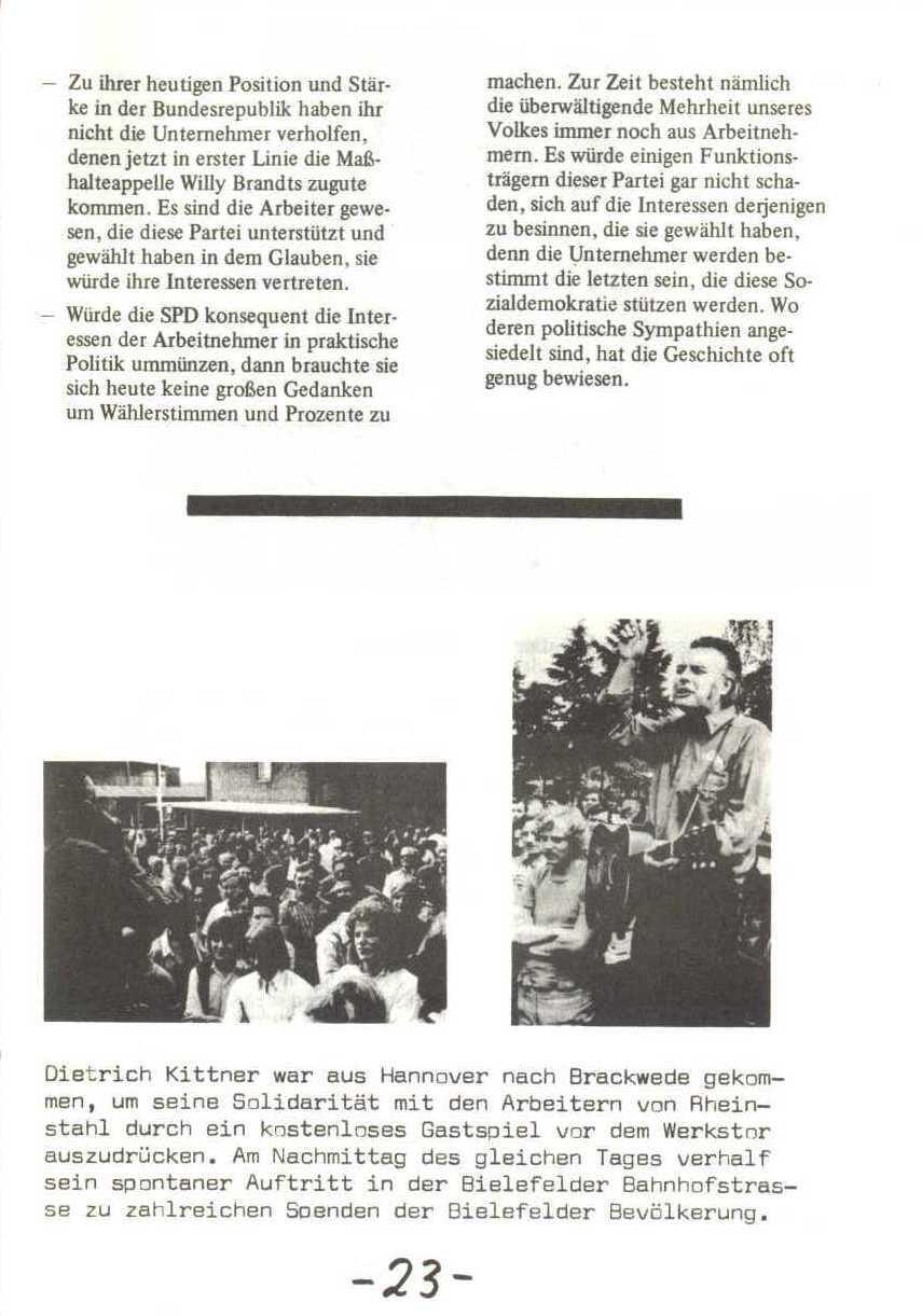 Rheinstal_Dokumentation der SJD_Die Falken, Bezirk Ostwestfalen_Lippe [1973], Seite 23