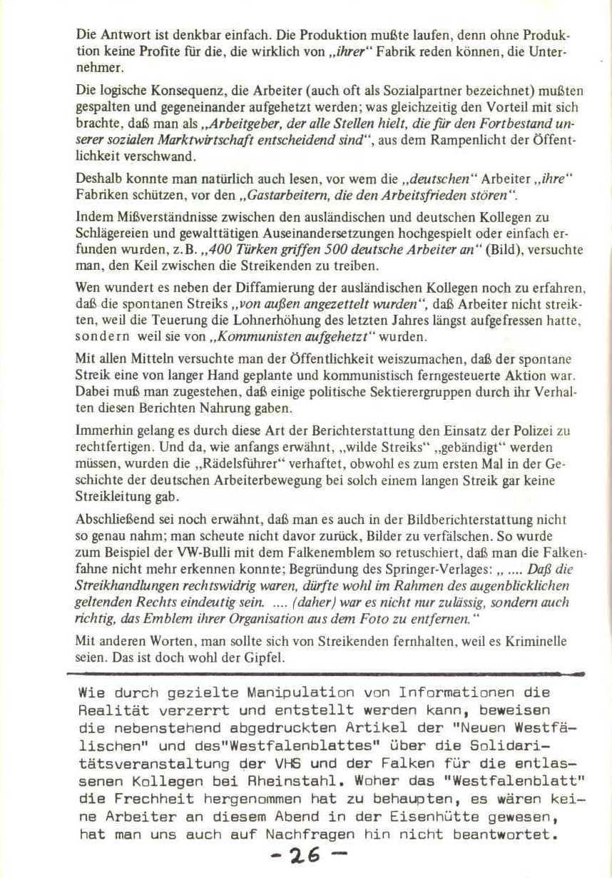 Rheinstal_Dokumentation der SJD_Die Falken, Bezirk Ostwestfalen_Lippe [1973], Seite 26
