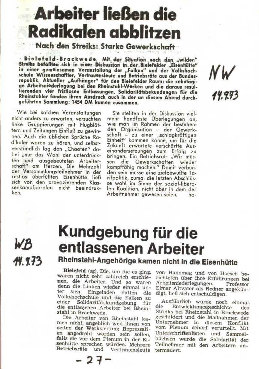 Rheinstal_Dokumentation der SJD_Die Falken, Bezirk Ostwestfalen_Lippe [1973], Seite 27
