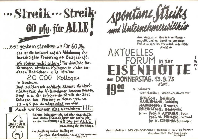 Rheinstal_Dokumentation der SJD_Die Falken, Bezirk Ostwestfalen_Lippe [1973], Seite 28
