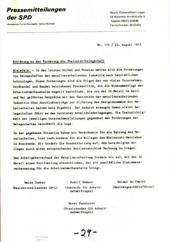 Rheinstal_Dokumentation der SJD_Die Falken, Bezirk Ostwestfalen_Lippe [1973], Seite 29