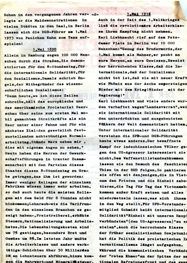 Essener Arbeiterzeitung, Nr. 1, Mai 1973, Seite 2