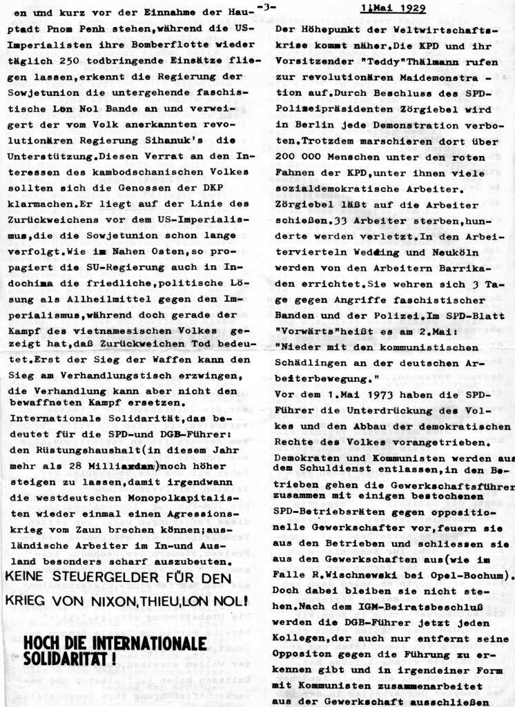 Essener Arbeiterzeitung, Nr. 1, Mai 1973, Seite 3