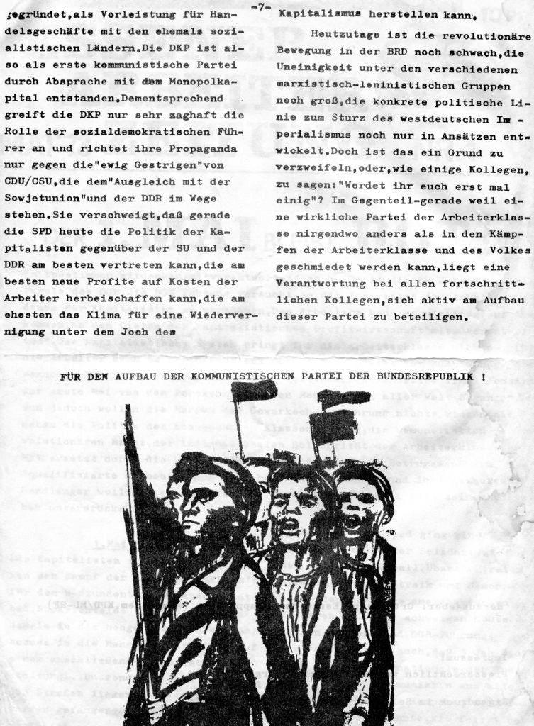 Essener Arbeiterzeitung, Nr. 1, Mai 1973, Seite 7